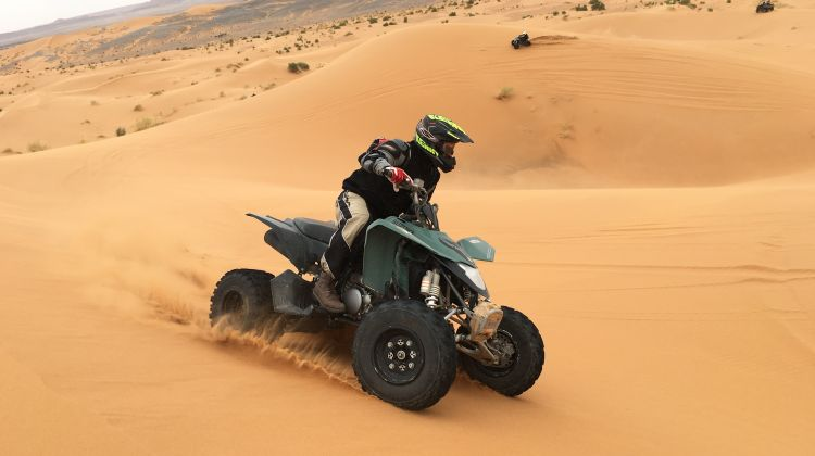 Quad bike in Desert
