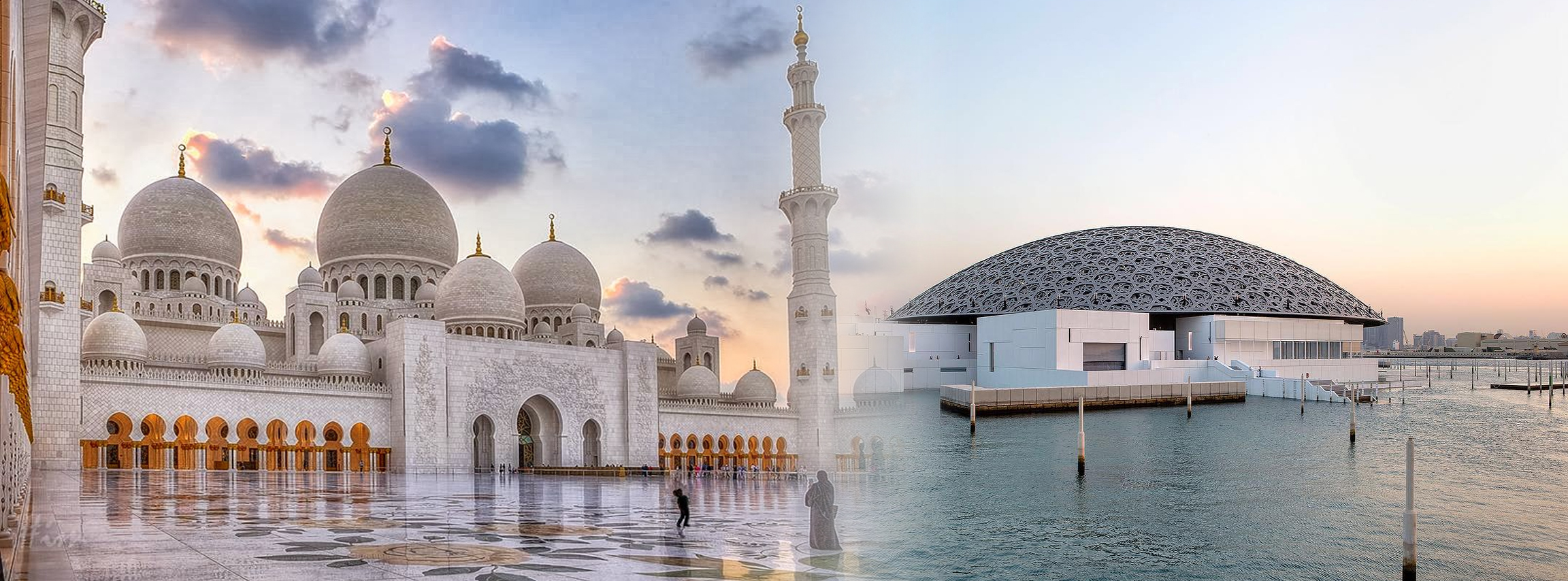 Abu Dhabi Zayed Grand Mosque + Louvre Museum